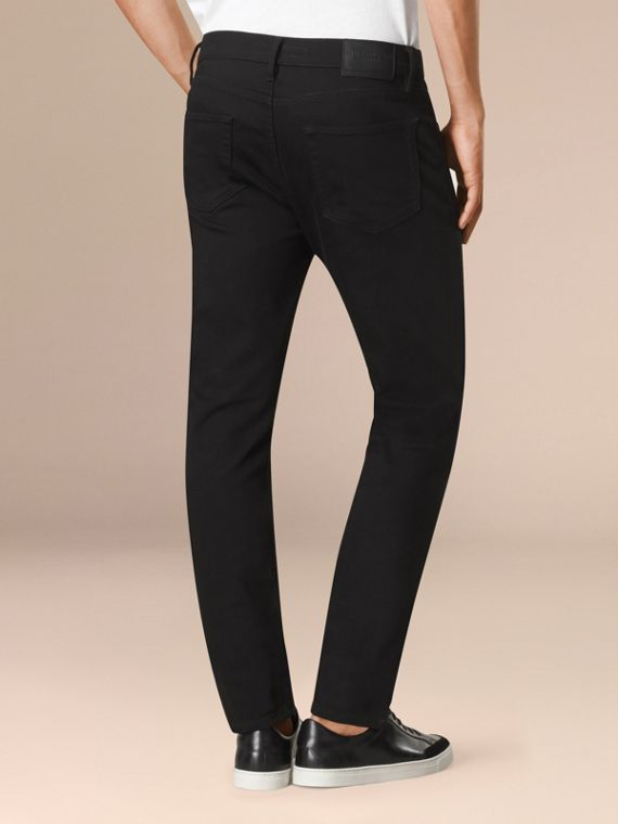 Black Slim Fit Stretch-denim Jeans - cell image 2