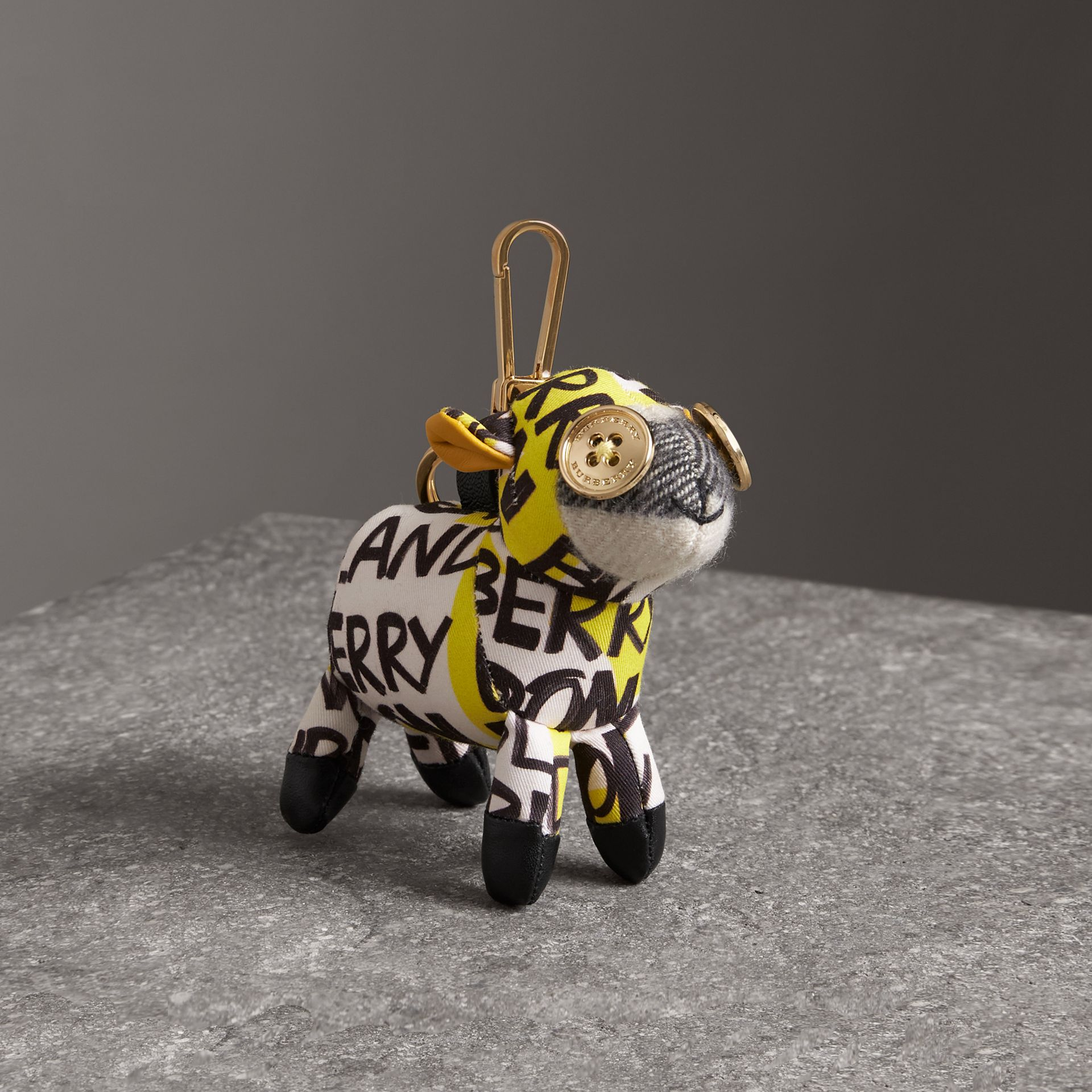 Wendy The Sheep Graffiti Print Cotton Charm in Yellow | Burberry - gallery image 0