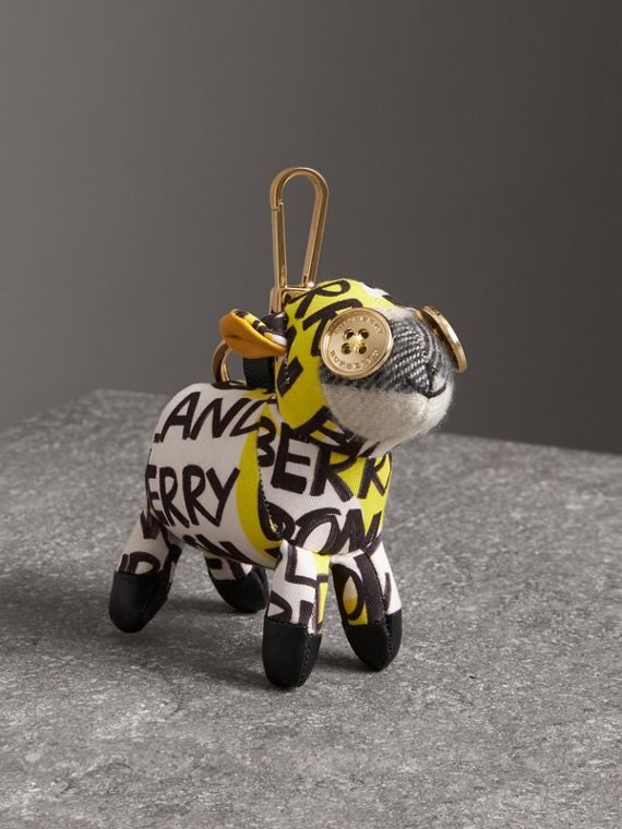 Wendy The Sheep Graffiti Print Cotton Charm in Yellow