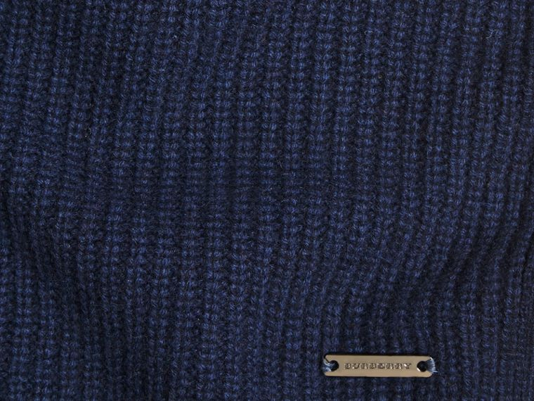 Navy Rib Cashmere Blanket Navy - cell image 1