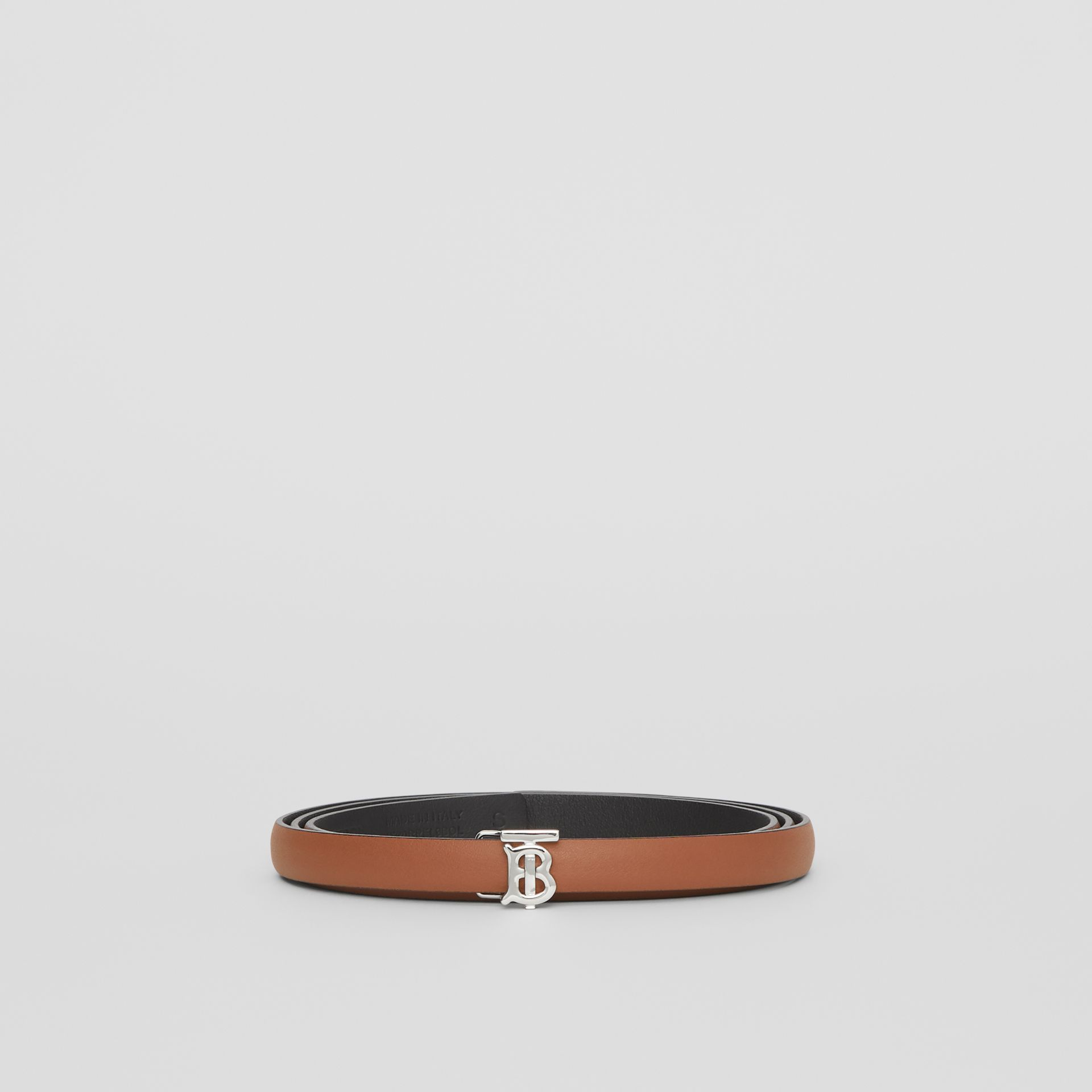 Reversible Monogram Motif Leather Wrap Belt in Malt Brown/black - Women | Burberry Australia - gallery image 3