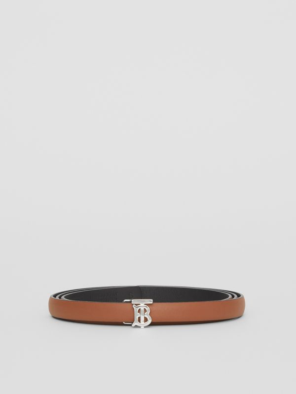 Reversible Monogram Motif Leather Wrap Belt in Malt Brown/black - Women | Burberry United Kingdom - cell image 3