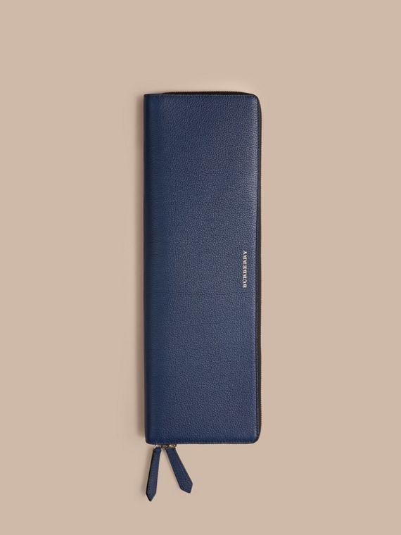 Bright navy Grainy Leather Tie Case Bright Navy - cell image 3