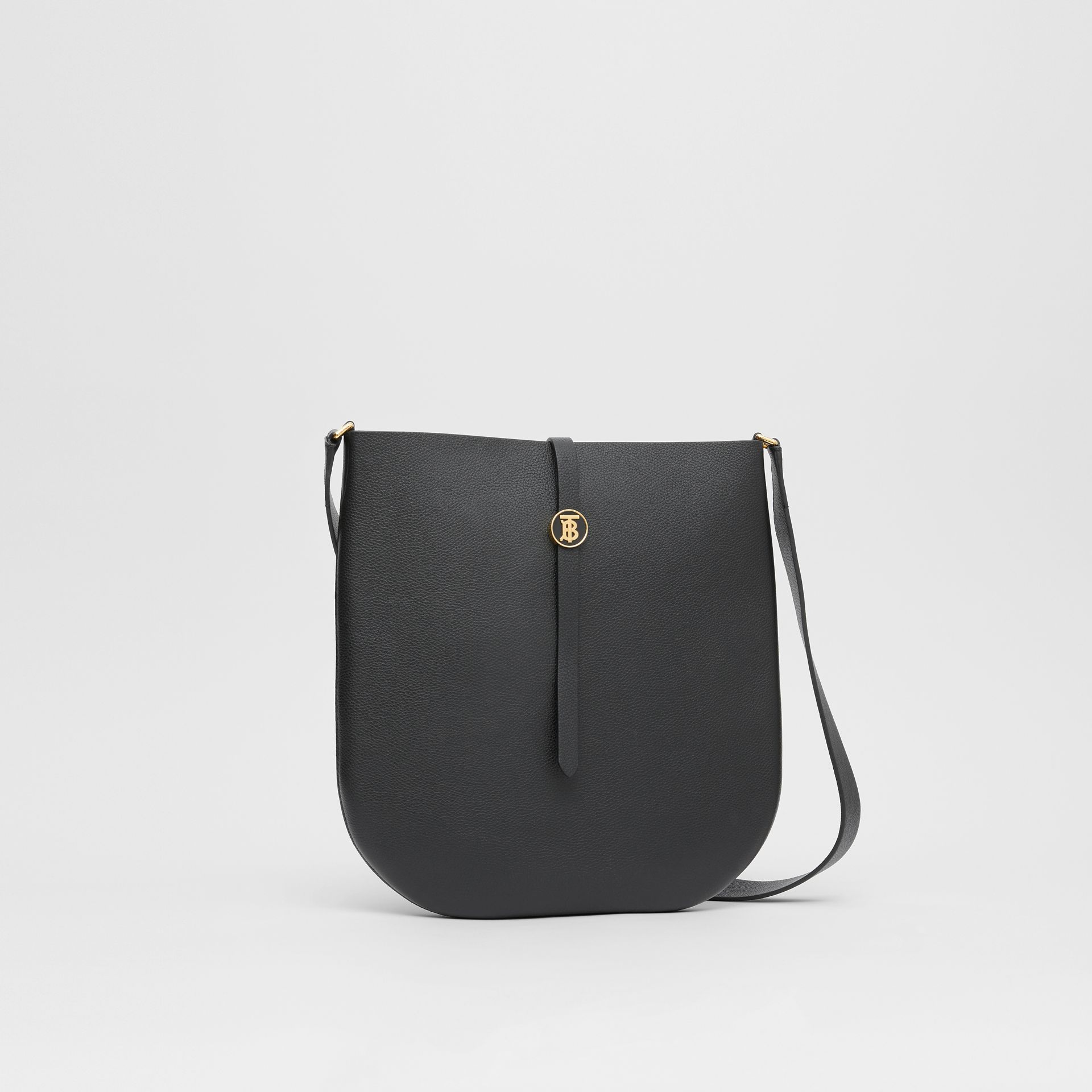 Grainy Leather Anne Bag in Black - Women | Burberry United States - gallery image 6