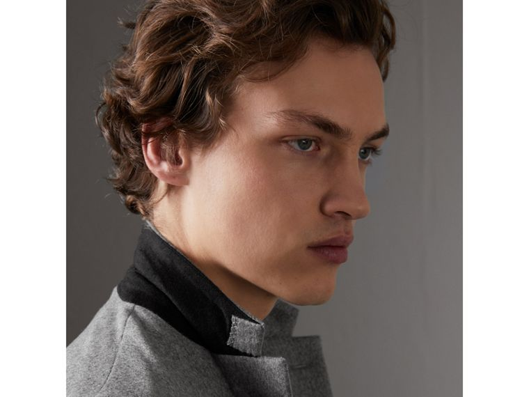 Soho Fit Cashmere Tailored Jacket in Mid Grey Melange - Men | Burberry Australia - cell image 1