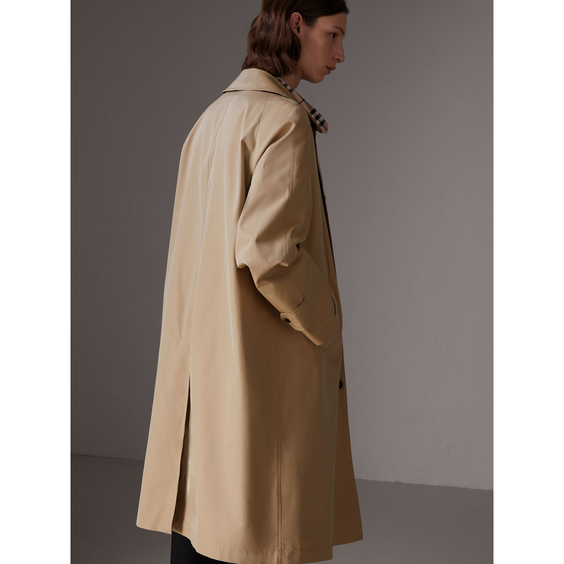 Gosha x Burberry Reconstructed Car Coat in Honey - Men | Burberry United Kingdom - gallery image 7
