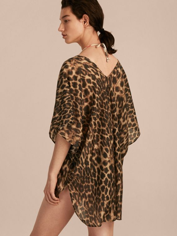 Animal Print Cotton Silk Swimwear Cover-up - cell image 2