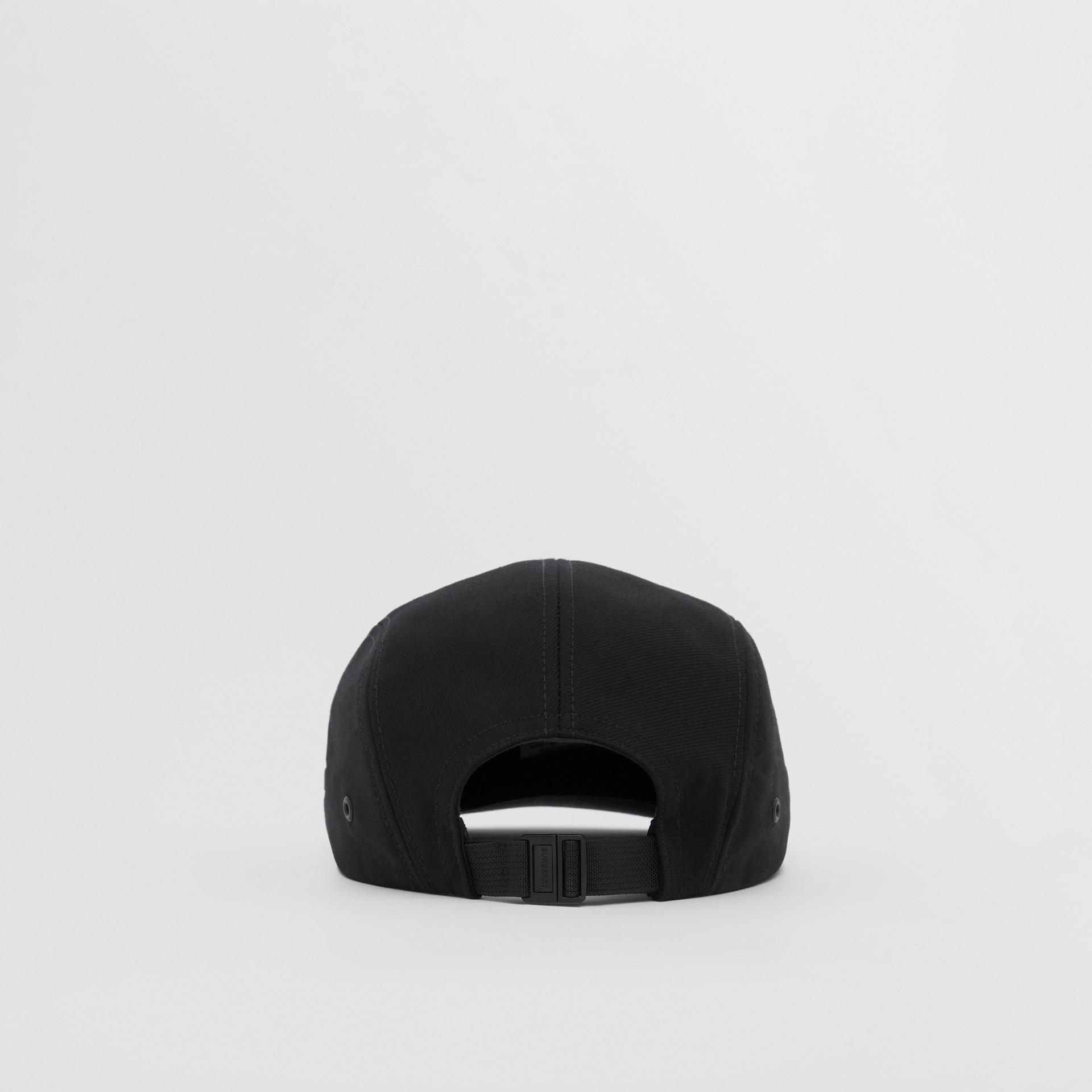 Logo Appliqué Cotton Twill Cap in Black | Burberry United States - gallery image 5