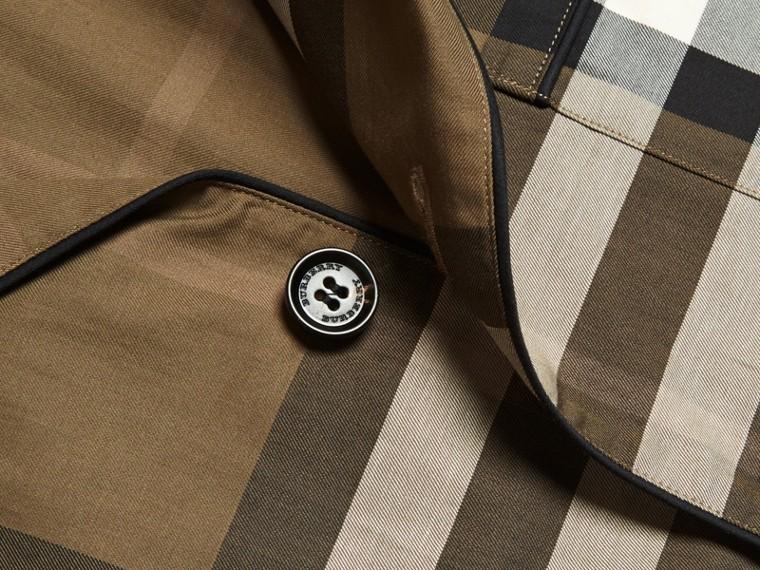 Olive sombre Chemise de style pyjama en coton à motif check Olive Sombre - cell image 1
