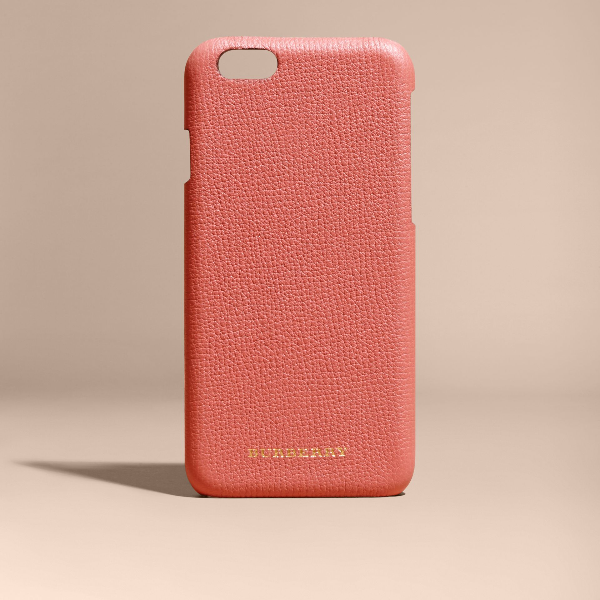 Grainy Leather iPhone 6 Case in Copper Pink - Women | Burberry - gallery image 5