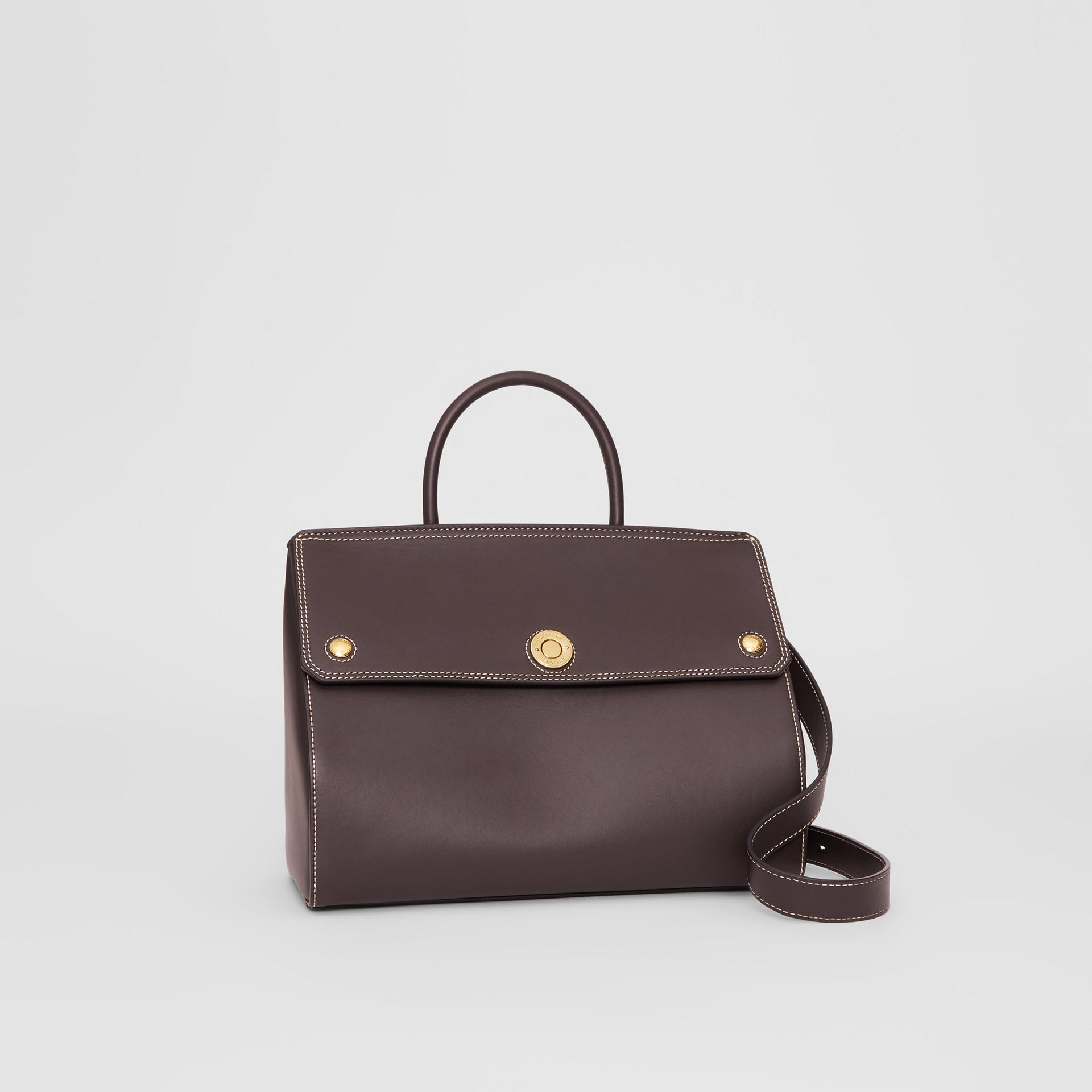 Small Leather Elizabeth Bag in Coffee - Women | Burberry - gallery image 6