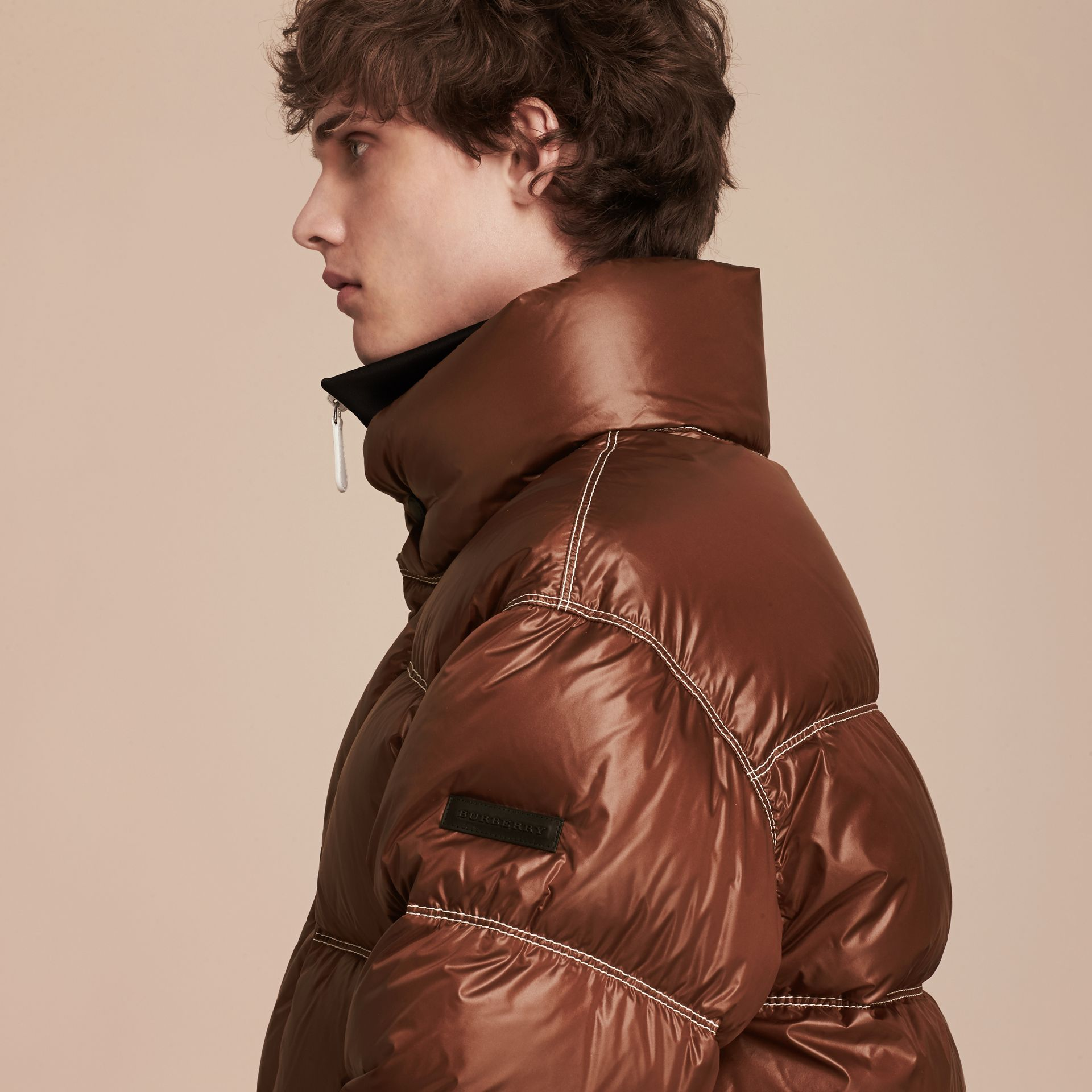 Chestnut brown Down-filled Puffer Jacket - gallery image 5