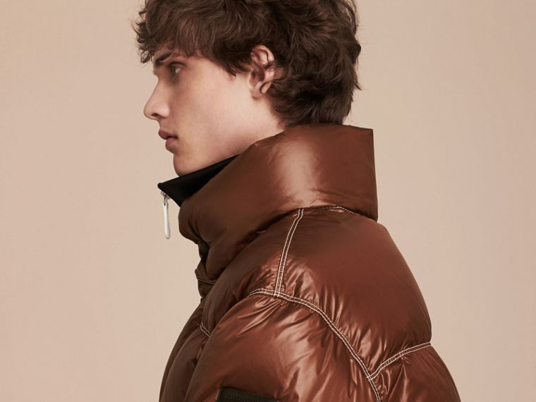Chestnut brown Down-filled Puffer Jacket - cell image 4
