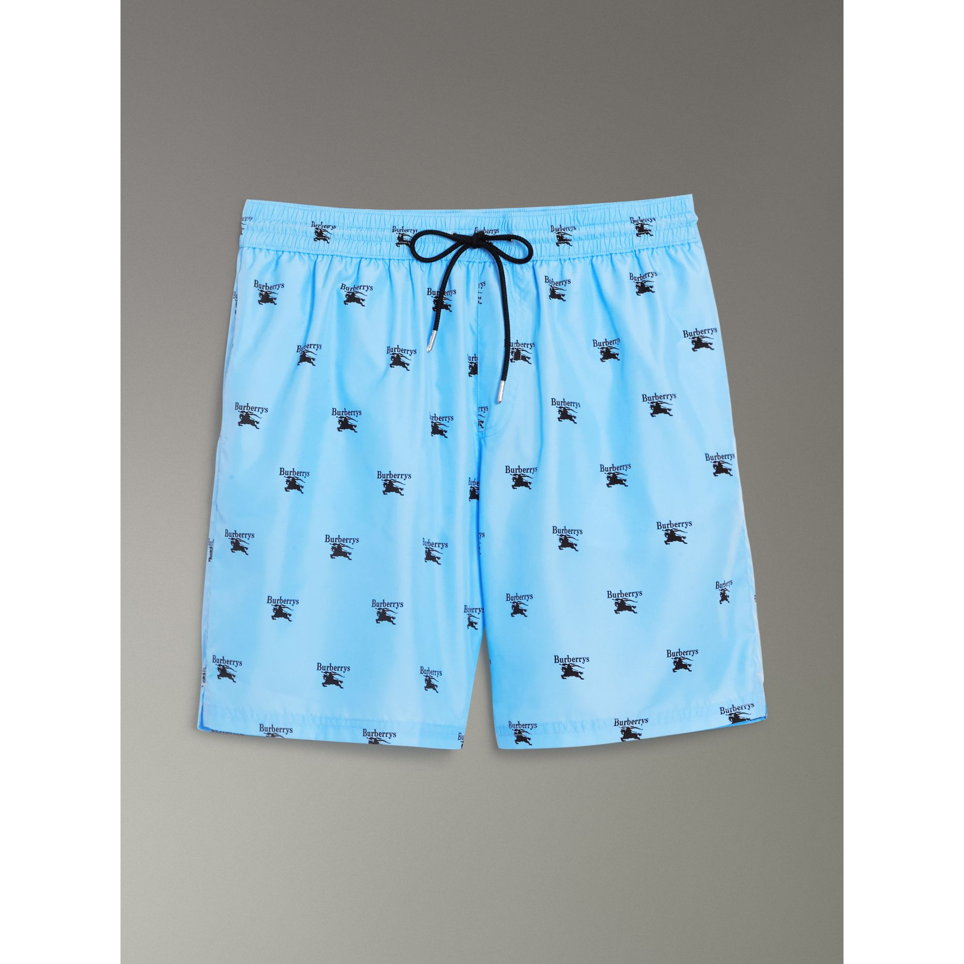 Archive Logo Drawcord Swim Shorts in Sky Blue - Men | Burberry Australia - gallery image 3