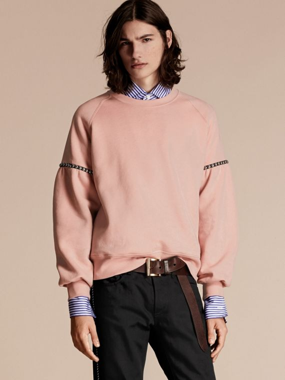 Bell-sleeved Cotton Blend Sweatshirt