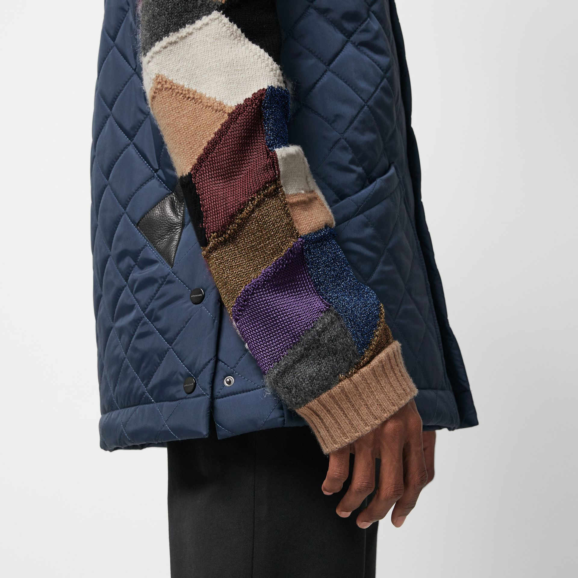 Diamond Quilted Gilet in Bright Navy - Men | Burberry United Kingdom - gallery image 1