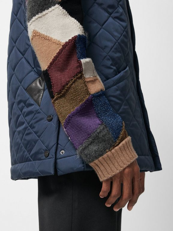 Diamond Quilted Gilet in Bright Navy - Men | Burberry - cell image 1