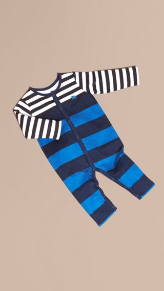 Striped Cotton All-in-one