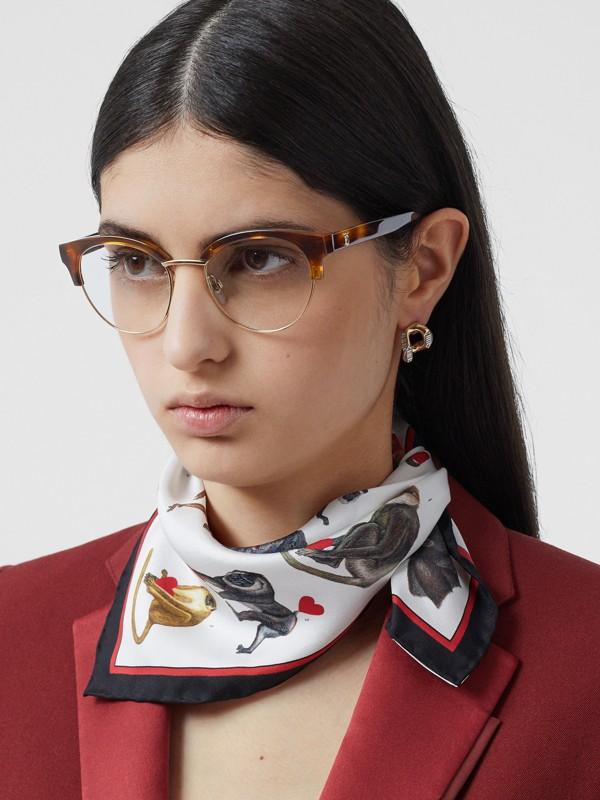 Óculos de grau com armação gatinho (Âmbar  Efeito Casco  Tartaruga) - Mulheres | Burberry - cell image 2