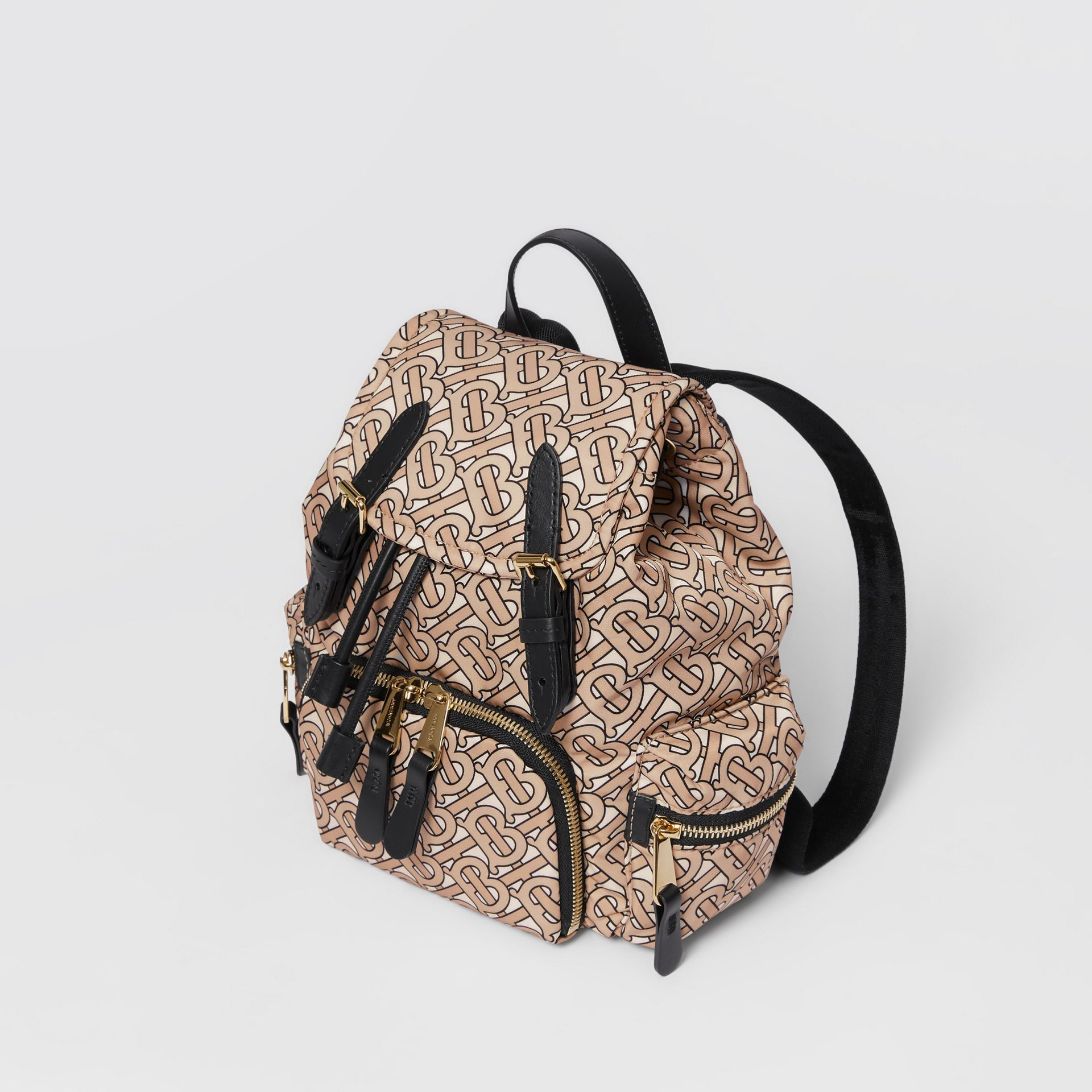 The Small Rucksack in Monogram Print Nylon in Beige - Women | Burberry Australia - gallery image 3