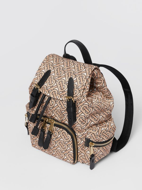 The Small Rucksack in Monogram Print Nylon in Beige - Women | Burberry United Kingdom - cell image 3