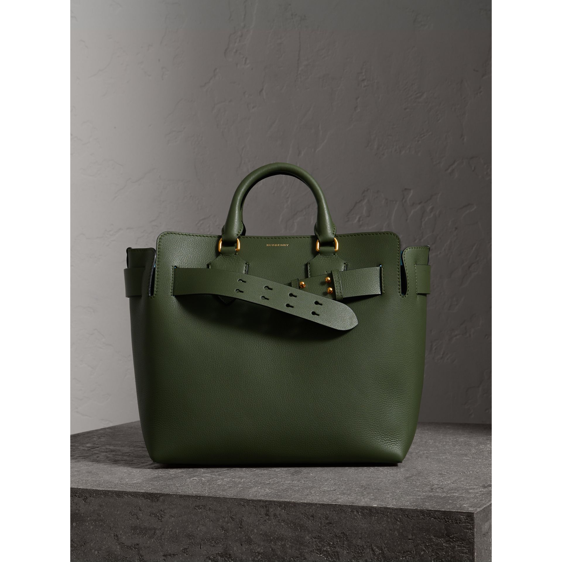 The Medium Leather Belt Bag in Sage Green - Women | Burberry - gallery image 6