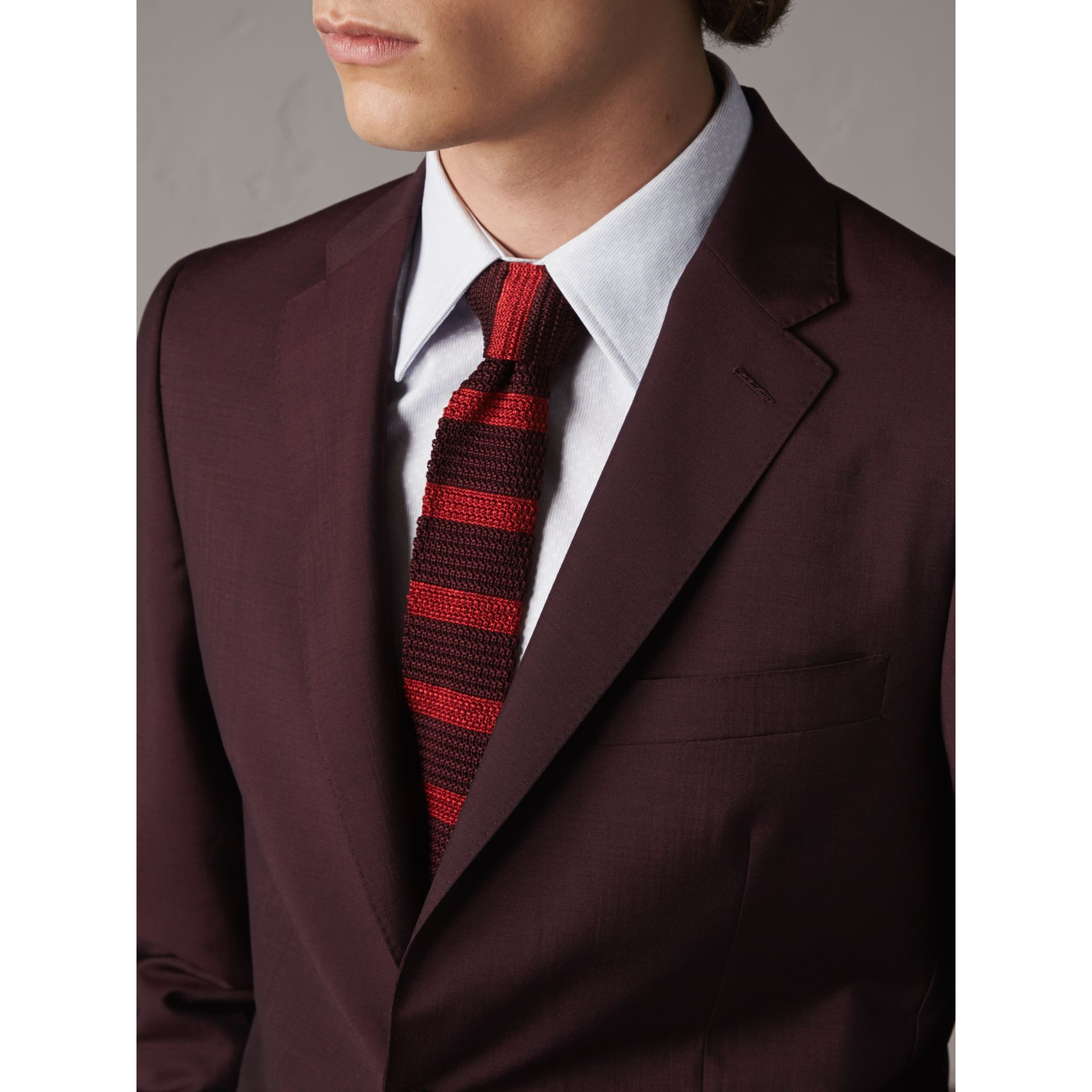 Soho Fit Wool Mohair Suit in Oxblood - Men | Burberry - gallery image 4