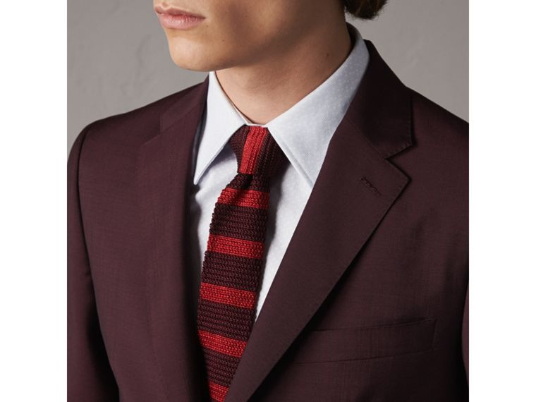 Soho Fit Wool Mohair Suit in Oxblood - Men | Burberry - cell image 4