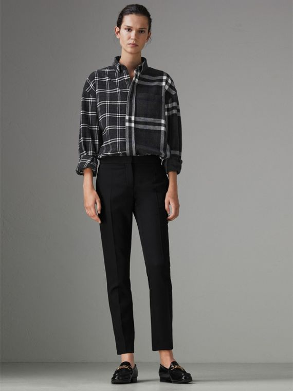 Gosha x Burberry Check Flannel Shirt in Charcoal