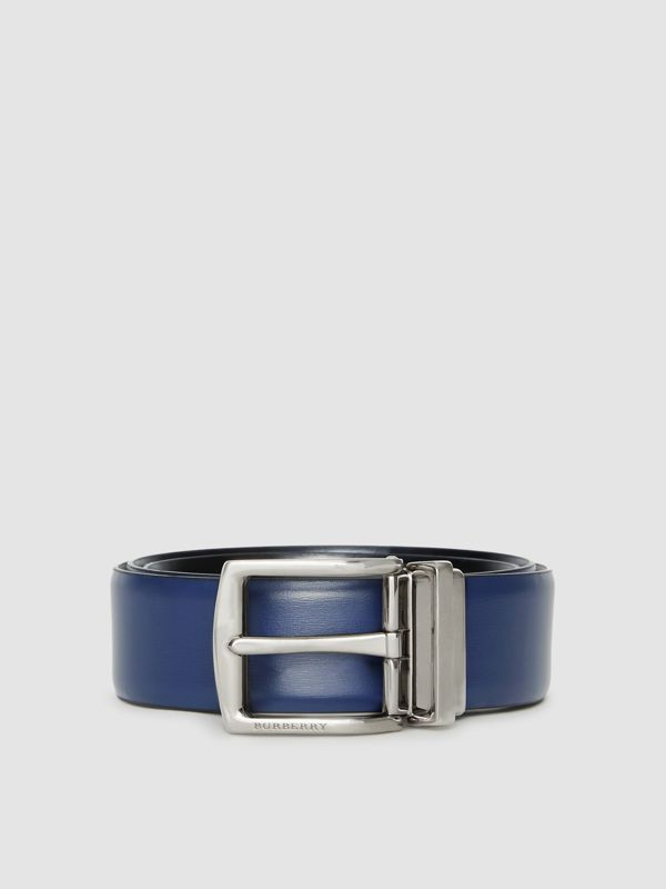 Reversible Leather Belt in Navy/black - Men | Burberry - cell image 3