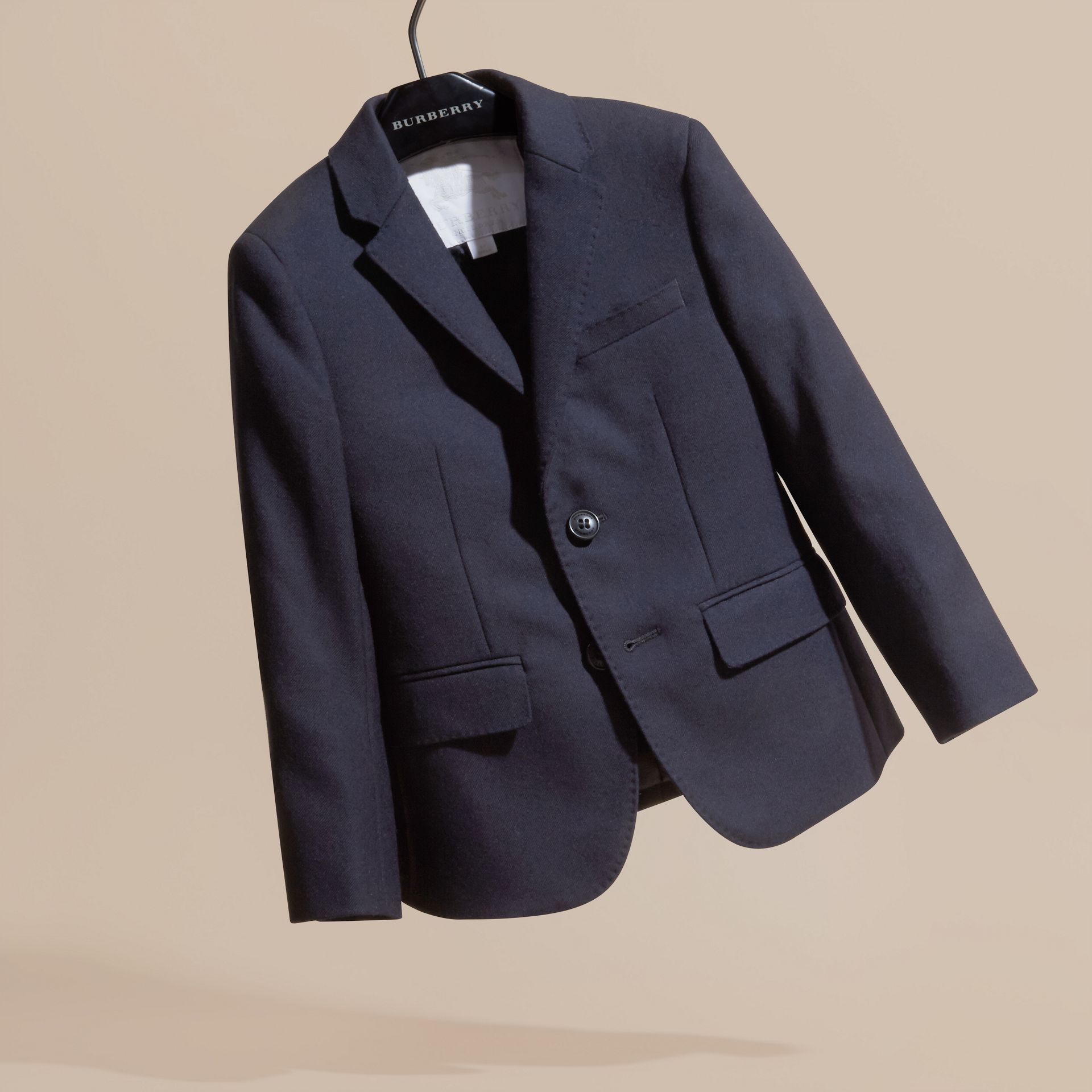 Navy Wool Blazer - gallery image 3