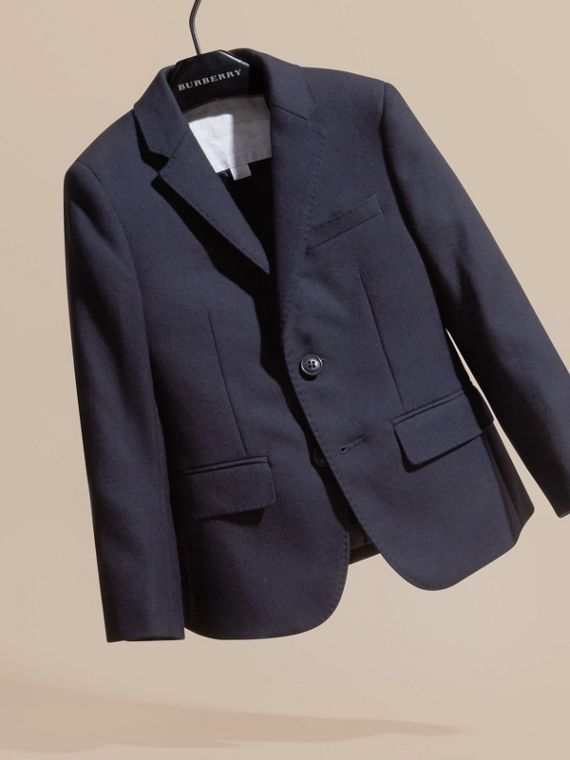 Navy Wool Blazer - cell image 2