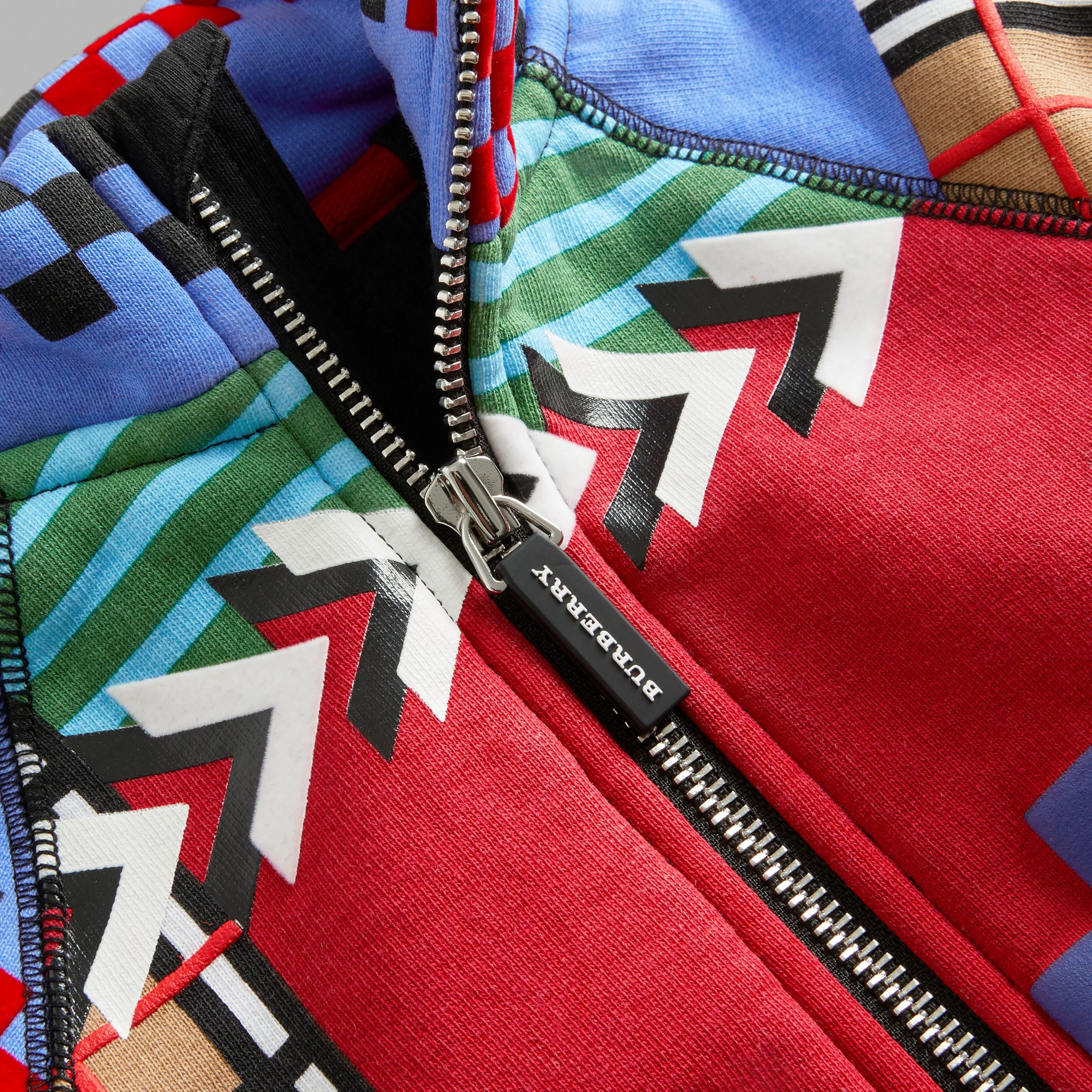 Graphic Print Jersey Track Top in Multicolour - Children | Burberry United Kingdom - gallery image 1