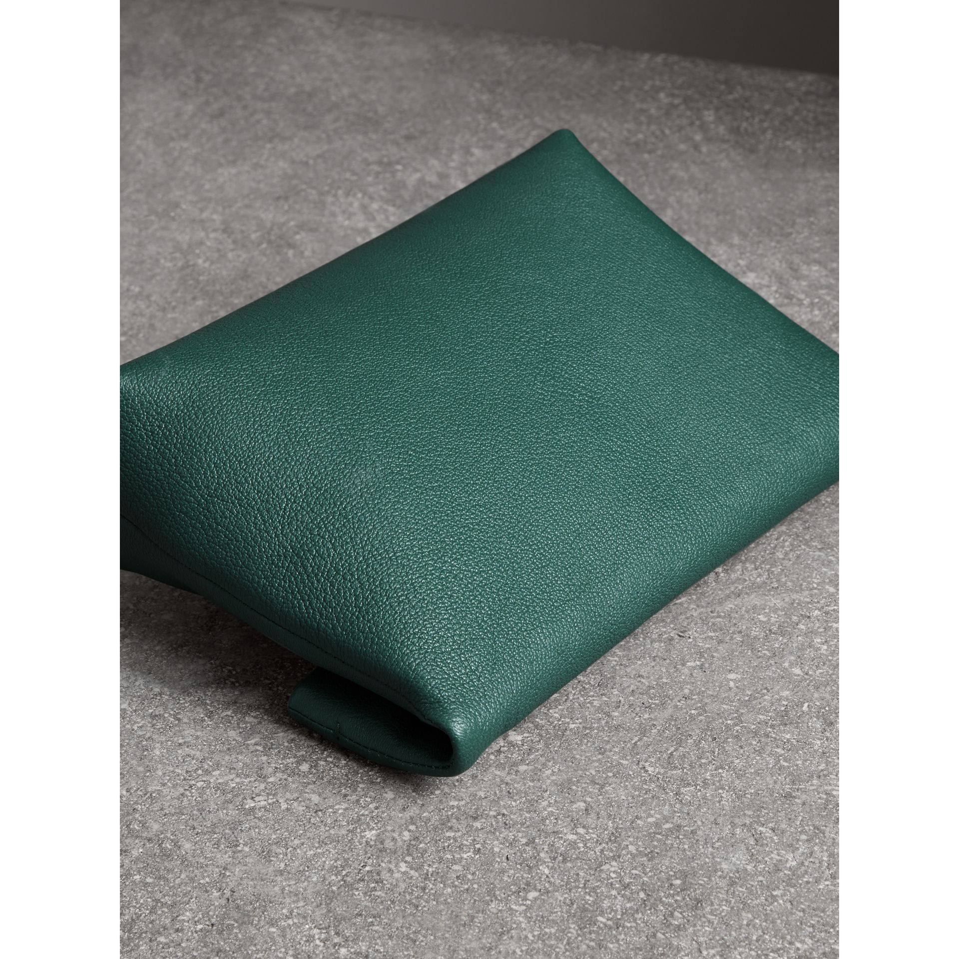 The Medium Pin Clutch in Leather in Sea Green - Women | Burberry United Kingdom - gallery image 4