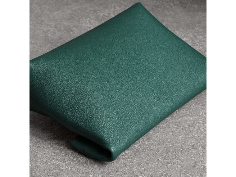 The Medium Pin Clutch in Leather in Sea Green - Women | Burberry - cell image 4