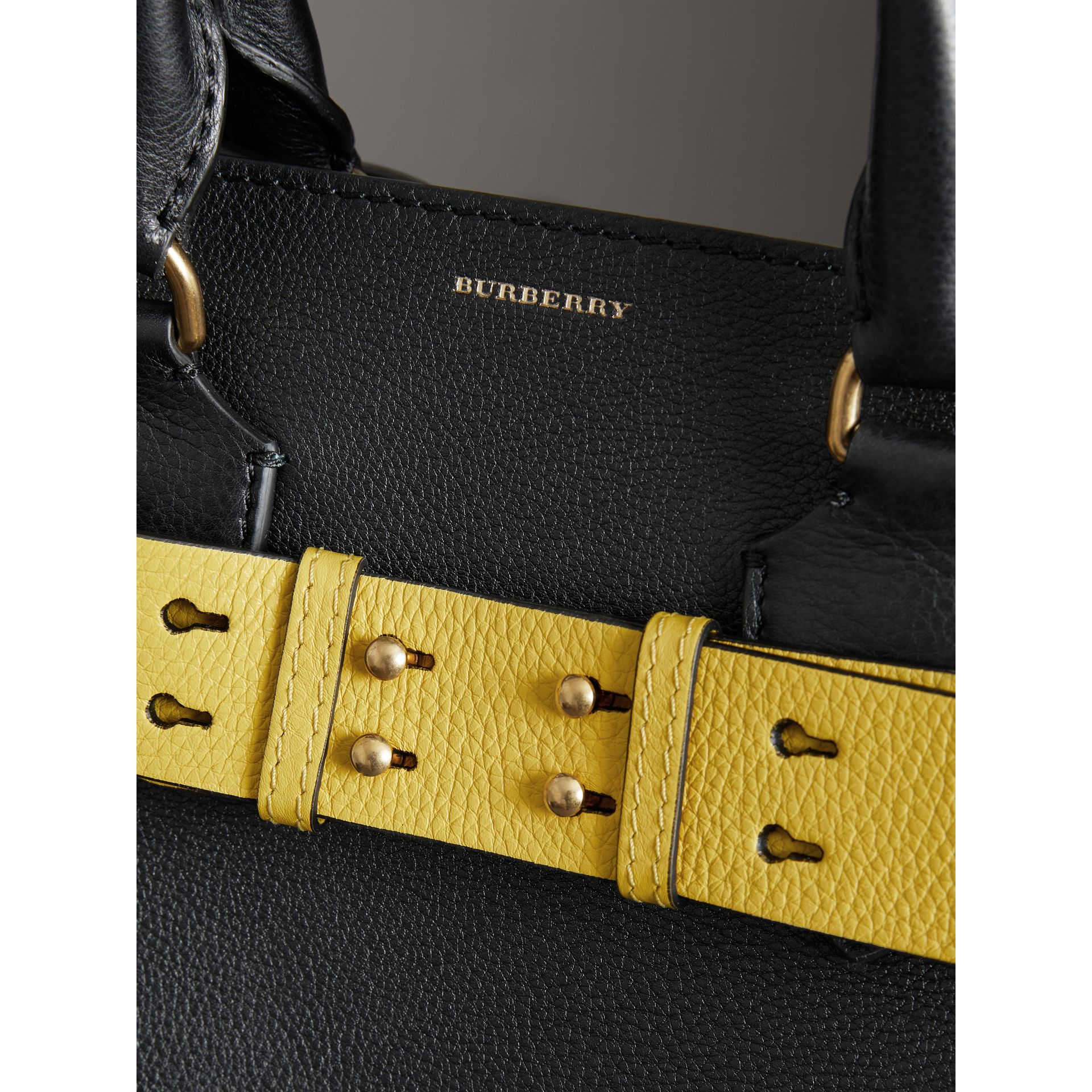 The Medium Leather Belt Bag in Black - Women | Burberry Australia - gallery image 1