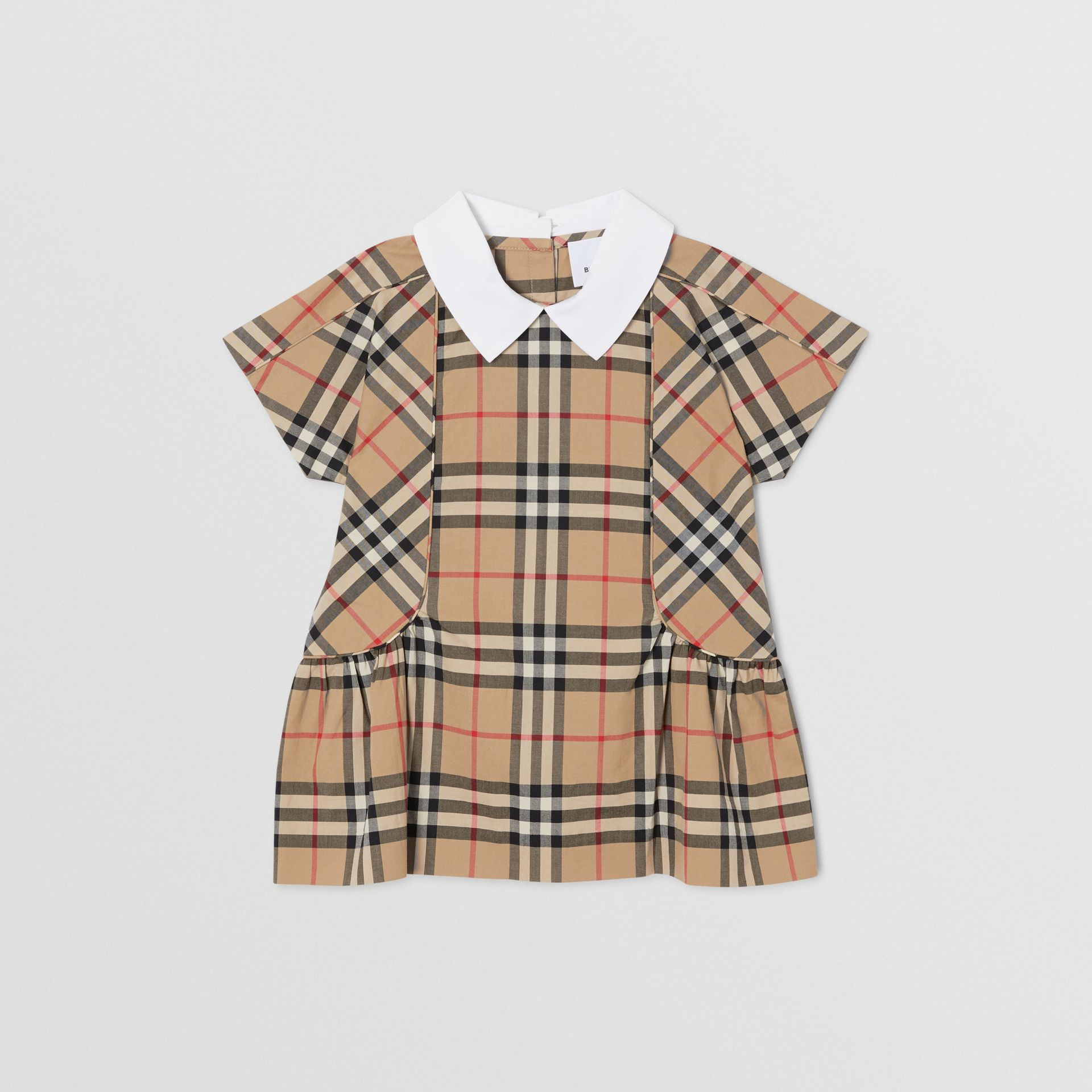Robe en coton Vintage check (Beige D'archive) - Enfant | Burberry - photo de la galerie 0