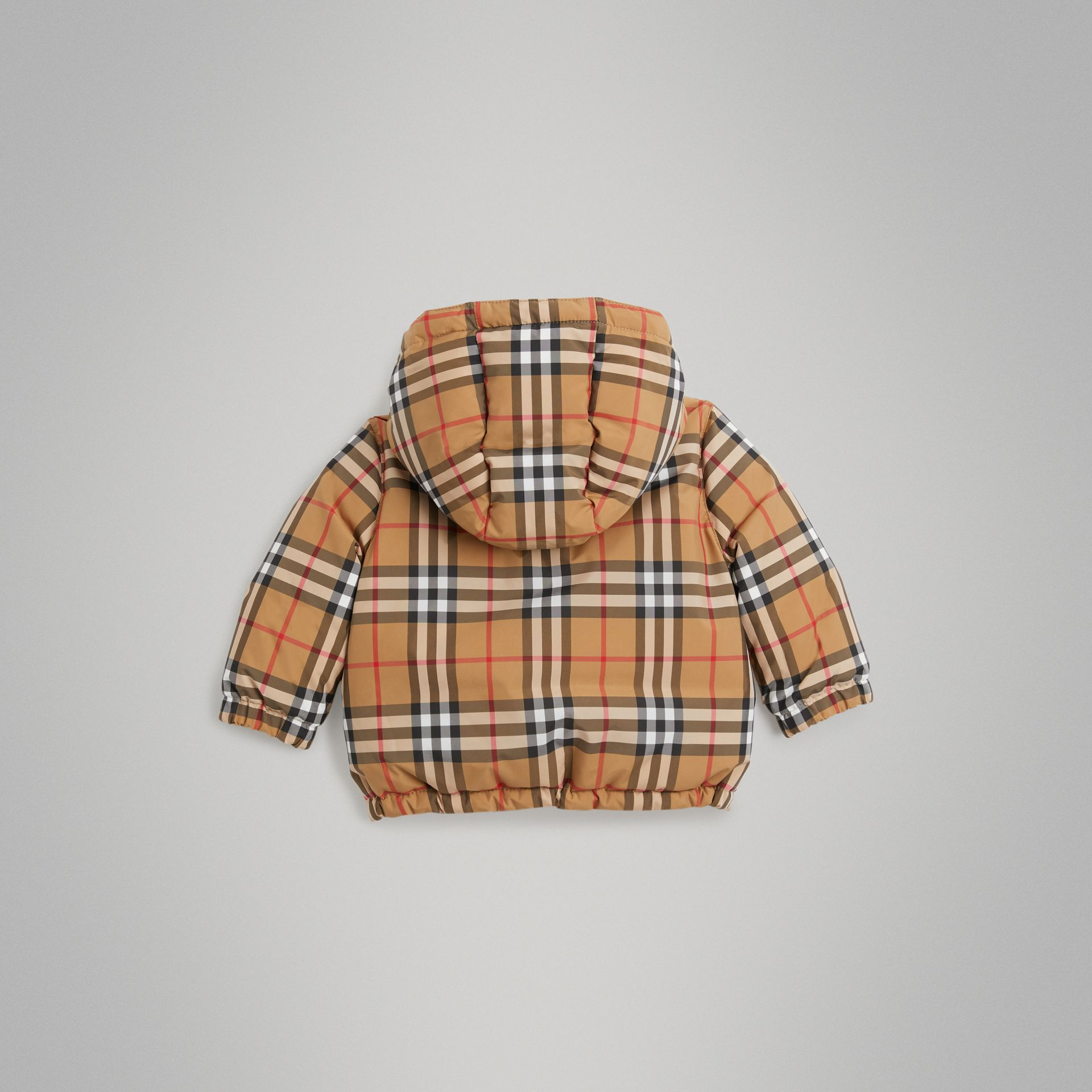 Vintage Check Down-filled Hooded Jacket in Antique Yellow - Children | Burberry - gallery image 3