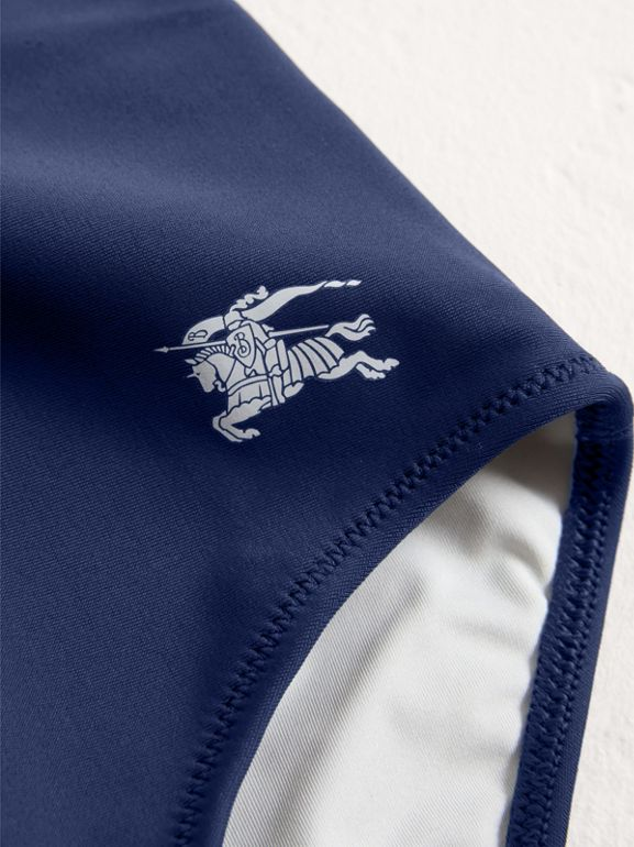 Frill Neck Swimsuit in Navy | Burberry - cell image 1