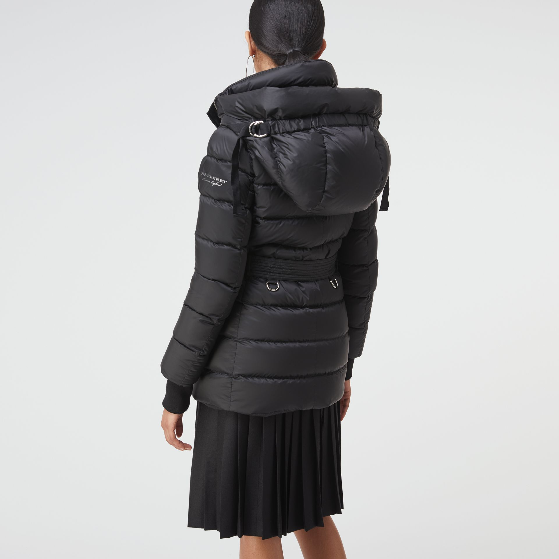 Down-filled Hooded Puffer Coat in Black - Women | Burberry - gallery image 2