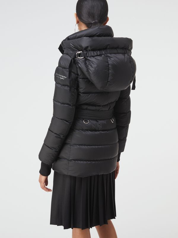 Down-filled Hooded Puffer Coat in Black - Women | Burberry United States - cell image 2