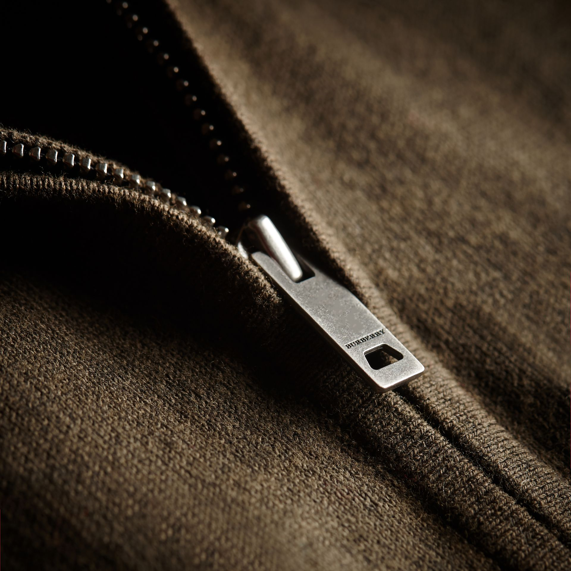 Check Detail Cotton Zip-front Cardigan - Children | Burberry - gallery image 2