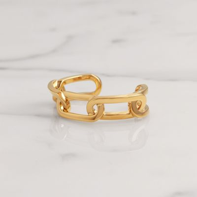 Burberry Gold-plated Link Cuff, Size: M