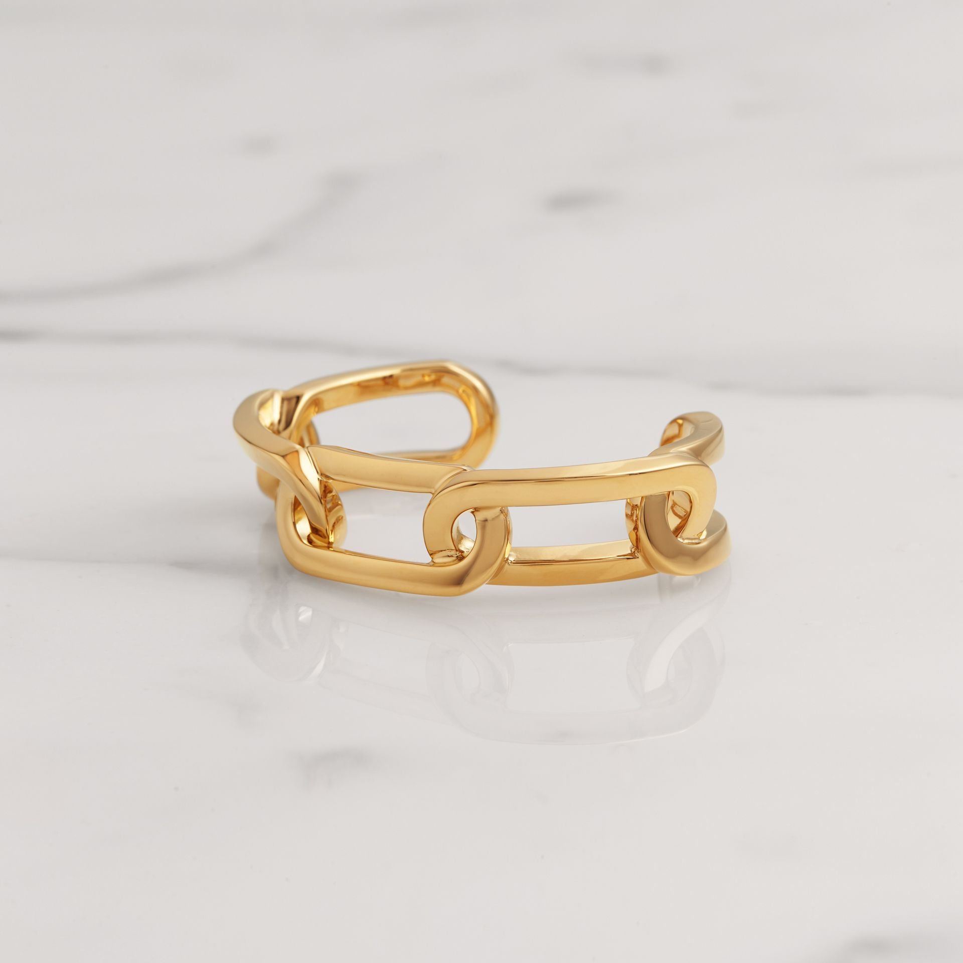 Gold-plated Link Cuff in Light - Women | Burberry Singapore - gallery image 0