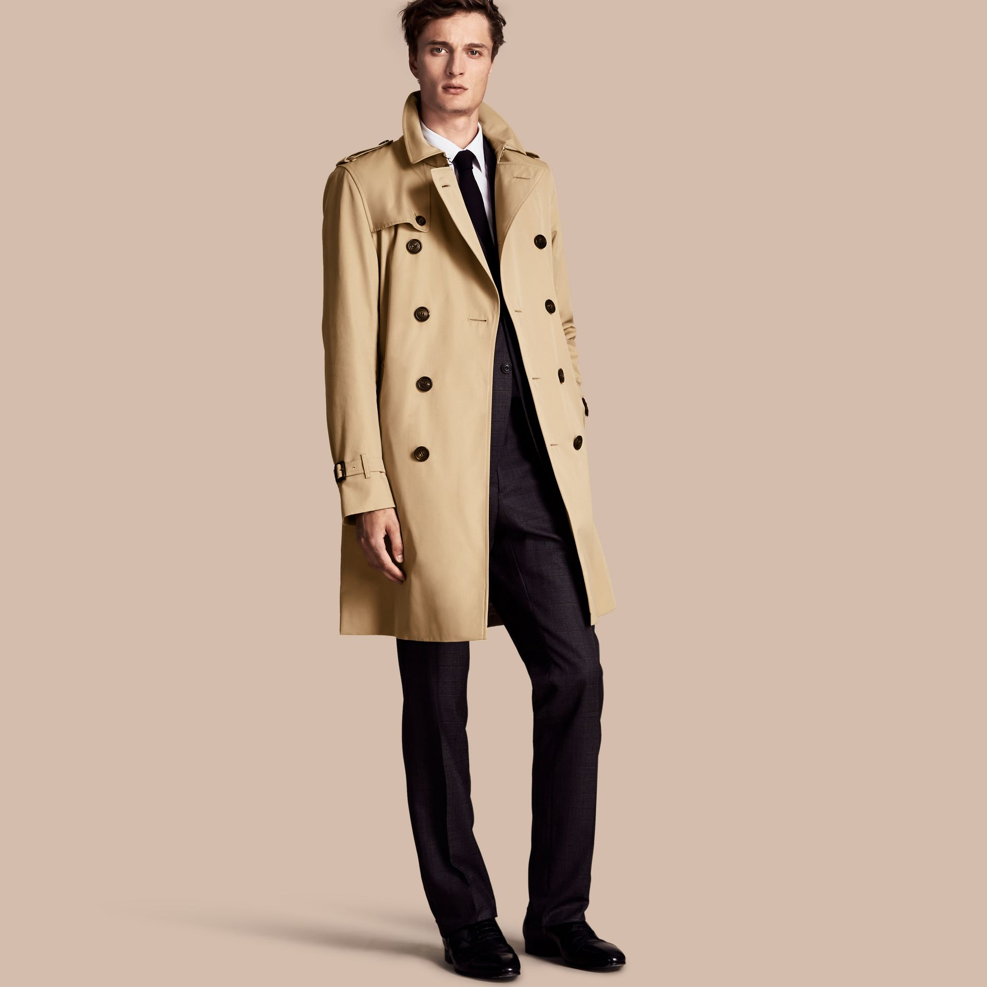 Honey The Kensington – Long Heritage Trench Coat Honey - gallery image 1