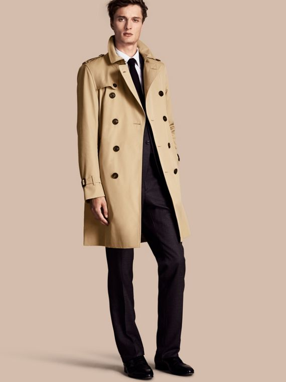 The Kensington – Long Heritage Trench Coat Honey