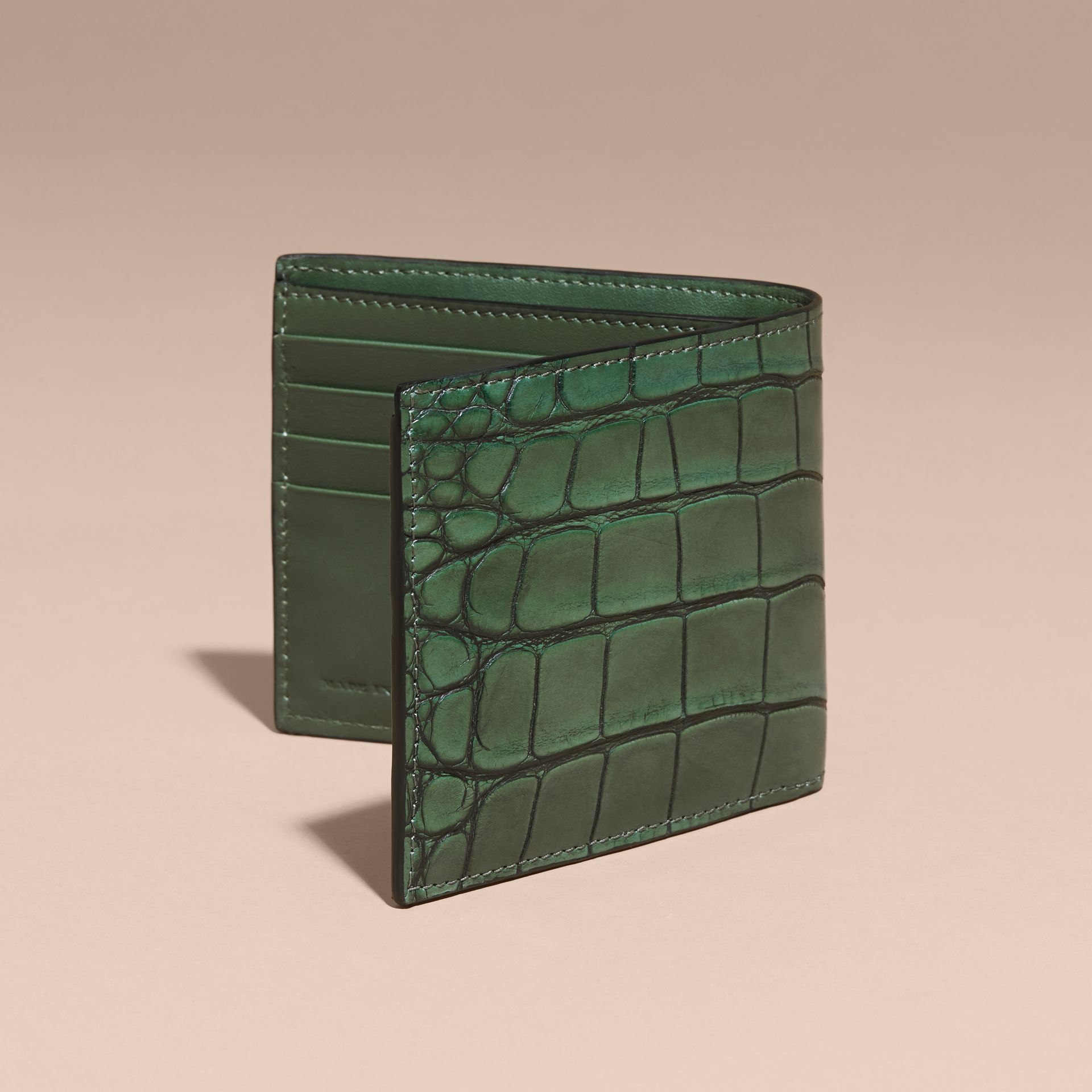 Alligator and Leather International Bifold Wallet - gallery image 4