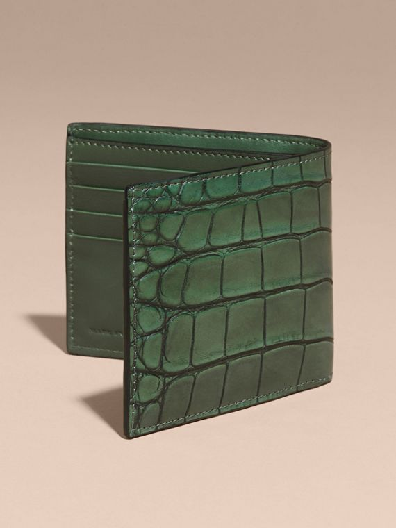 Sage Alligator Folding Wallet - cell image 3