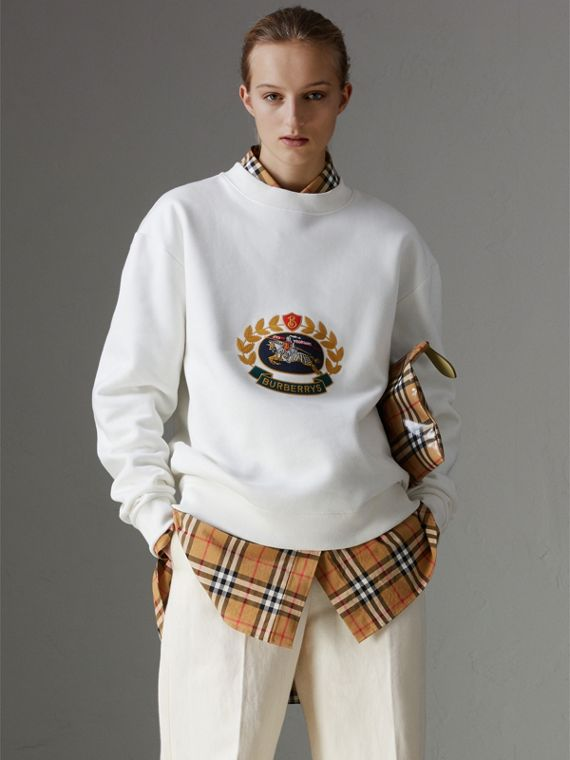 Reissued Jersey Sweatshirt in Off White