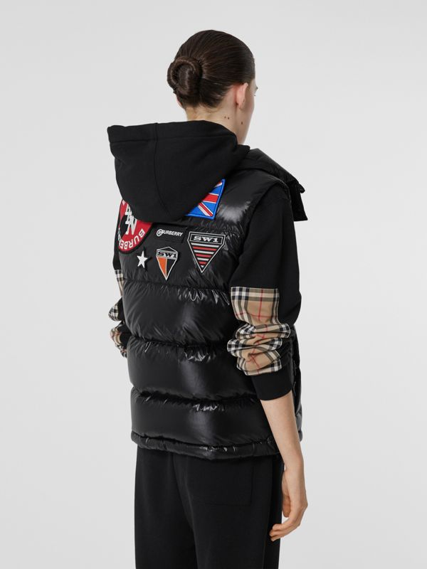 Logo Graphic Puffer Gilet in Black - Women | Burberry - cell image 2